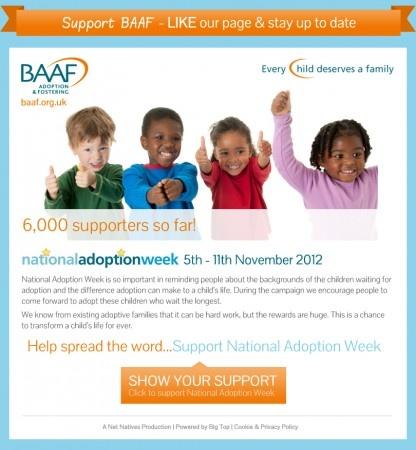 Pledge  App - BAAF National Adoption Week