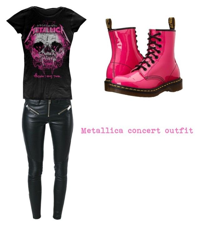 """Metallica concert outfit"" by triciacxoxo on Polyvore featuring Diesel and Dr. Martens"