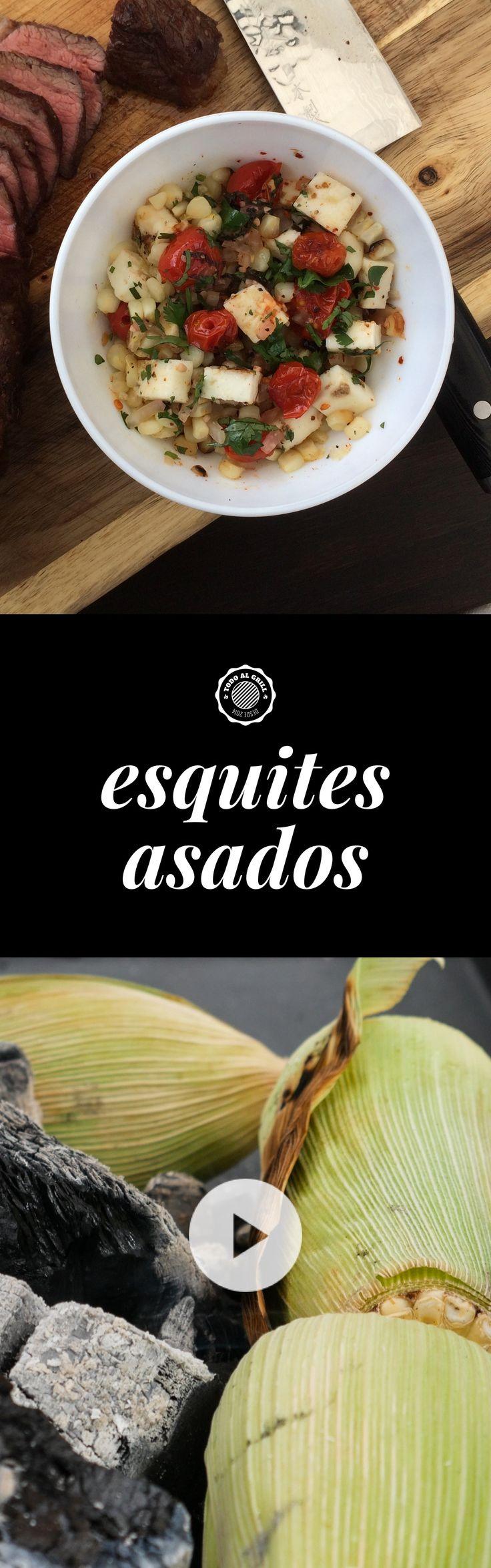 Esquites Asados. Los esquites son una botana tradicional mexicana hecha a base de granos de elote. Hay muchas variantes de sabor según la región. ¡Mira el video con la receta y prepáralos! Son ideales para acompañar una buena parrillada.
