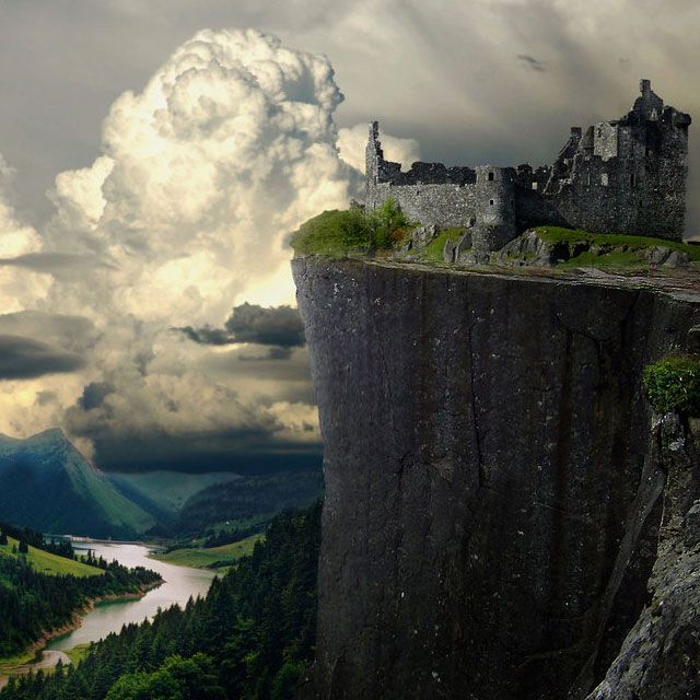 Kilchurn Castle in Scotland. Click image for a series of amazing castles in various destinations.