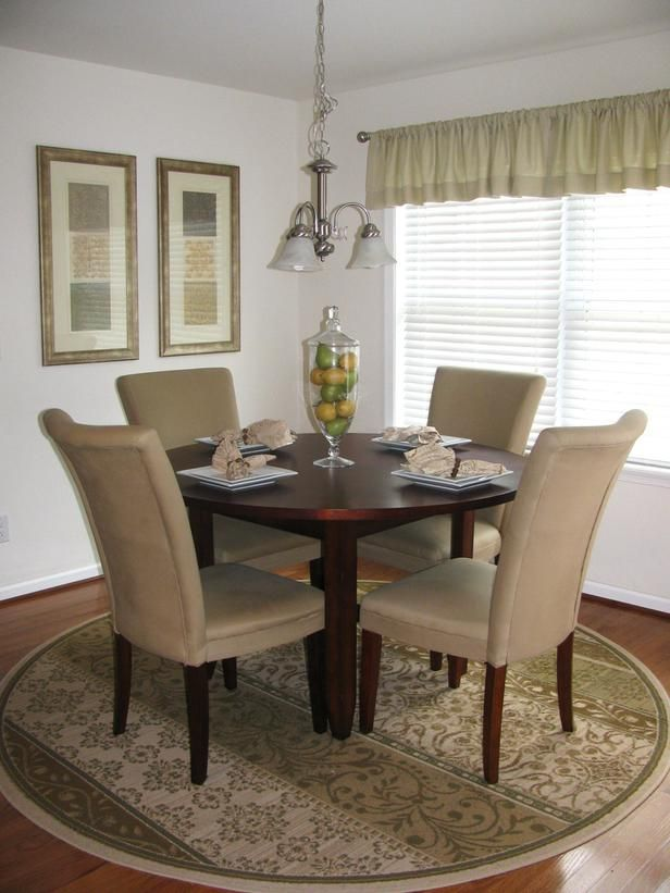 thinking i need a rug similar to this for under our table 10 beautiful spaces dining room - Dining Room Rug Round Table