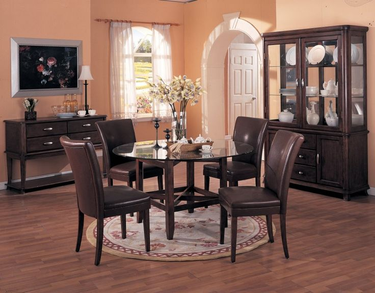 Light Salmon Color For Dining Room Painting Ideas With Simple Wood Table On The