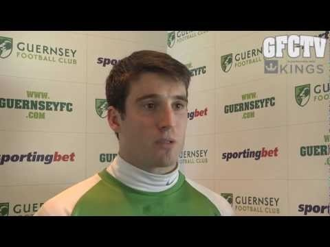 Ross Allen interview (March 18th).  GFC started their climb up the CCL Premier Division table with a 1-0 victory over South Park yesterday.  GFC were second-best for much of the match and goalkeeper Chris Tardif was in form before Allen's 74th minute strike stole three points.    It puts GFC in seventh place ahead of their trip to Epsom & Ewell.  Ast. coach Colin Fallaize said,    'We weren't at our best but... I would take another 22 games like that for the rest of the season.'