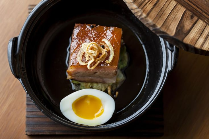Apple-Smoked Pork Belly, Braised Cabbage, Egg - The House of Ho, Soho