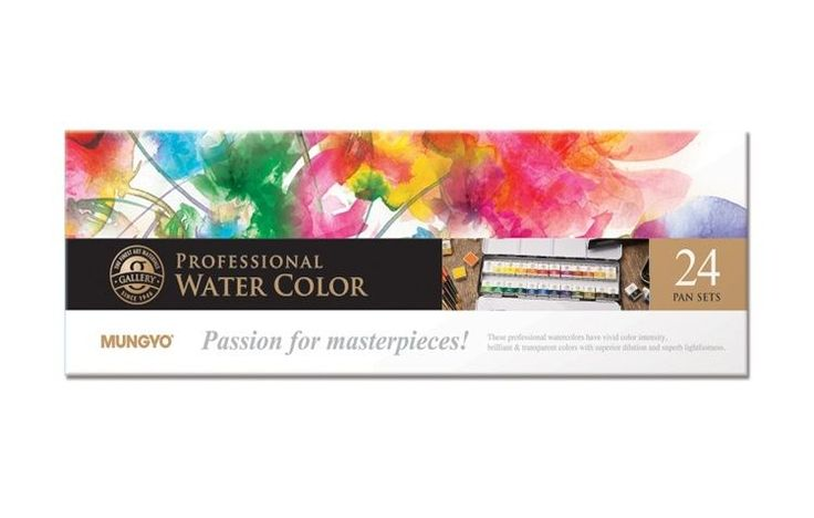Watercolor Paint Mungyo Professional Pans Set 24 Color MWPH-24C #Mungyo