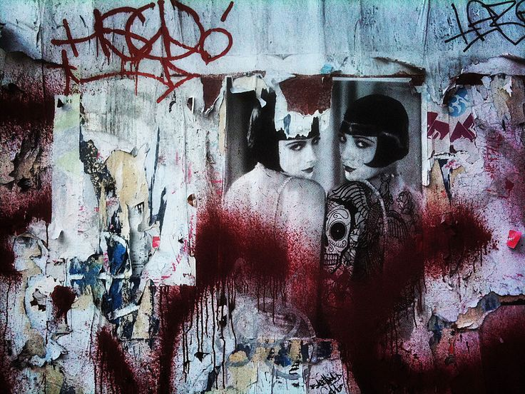 Urban Decay New York. Photo of the ever-changing urban landscape of NYC. ( graffiti, art, stencil, street art, chaos, new york city, wall art, mural )