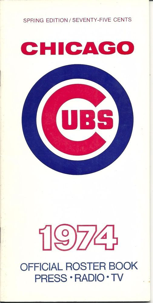 Original 1974 Chicago Cubs Roster book/ Media Guide - CLEAN !