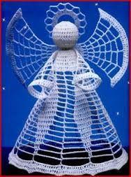 Bilderesultat for angel crochet diagram