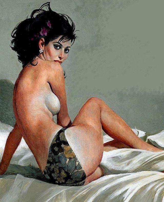Картинки по запросу Robert McGinnis (1926, American) nude