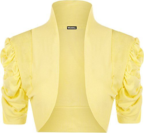 WearAll - Damen Kurzarm Bolero Top - Gelb - 40-42 WearAll https://www.amazon.de/dp/B00YV38B44/ref=cm_sw_r_pi_dp_x_i6S4xbEHRCGJ0