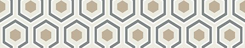 Hicks Hexagon Gold & Cream wallpaper by Cole & Son