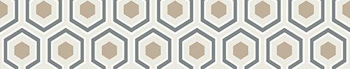 Hicks Hexagon Gold & Cream wallpaper by Cole & Son