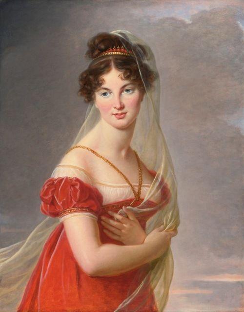 A portrait of Aglaé Angélique Gabrielle de Gramont (1787-1842), the grand-daughter of the duchesse de Polignac, Yolande de Polastron   Élisabeth Vigée-Le Brun (1824)