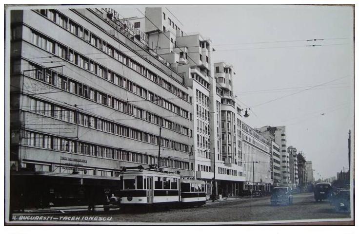 Bucuresti - Blocul ARO, azi Cinema Patria, pe bd.Magheru si Hotel Ambasador - interbelica