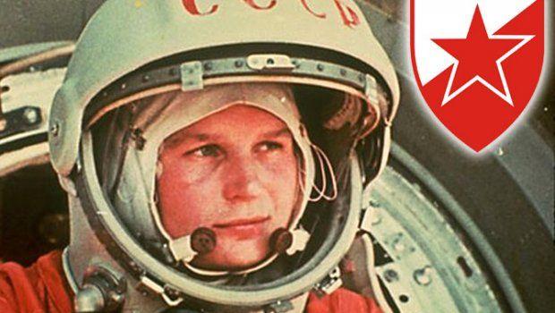 Prva žena u kosmosu navija za Crvenu zvezdu!