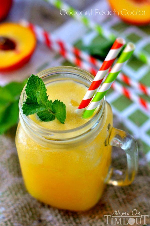 3-Ingredient Coconut Peach Cooler   MomOnTimeout.com