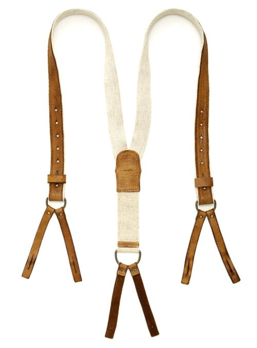 Elk Leather Vintage× Tape Suspender #Gourmetillo loves...!!