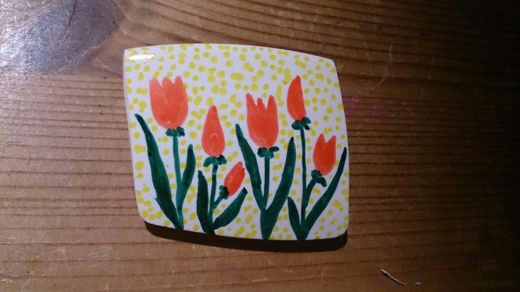 Brož tulipány