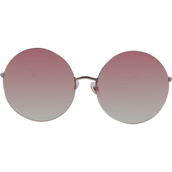 Linda Farrow Rose Gold Metal Sunglasses (890 BRL) ❤ liked on Polyvore featuring accessories, eyewear, sunglasses, linda farrow, metal sunglasses, linda farrow glasses, metal glasses and rose gold sunnies