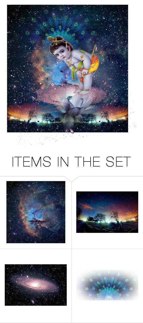 """""""Happy Birthday dear Lord Krishna"""" by mymidlifecrisis ❤ liked on Polyvore featuring art"""