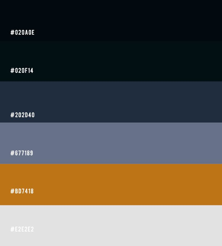 Grey Blue And Brown Color Scheme: Black And Navy Blue Color Palette With Gold Accents For