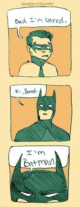 "OH SNAP THIS IS THE AMALGAMATION OF ALL THINGS WONDERFUL - ITS AN ""I'M BATMAN"" JOKE AND A DAD JOKE ALL ROLLED INTO ONE!!"