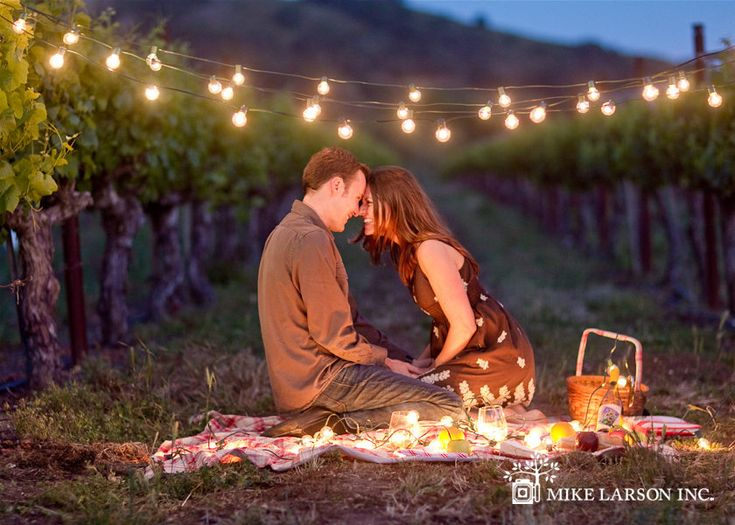 A romantic picnic with lights and candles at the vineyard we are having our Wedding at. Perfect Valentine's day date for #crazypinlove at #helzbergdiamonds