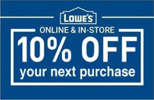 Coupons: Ten (10X) Lowes 10%-Coupons Expire 8 31 2017, Online Or In Store -> BUY IT NOW ONLY: $24.32 on eBay!