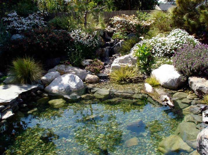 Marvelous San Diego Pond And Garden Decoration With Pondless Waterfall And  Waterfeatures | Pond And Garden Landscaping | Pinterest | Pond Water  Features, ...