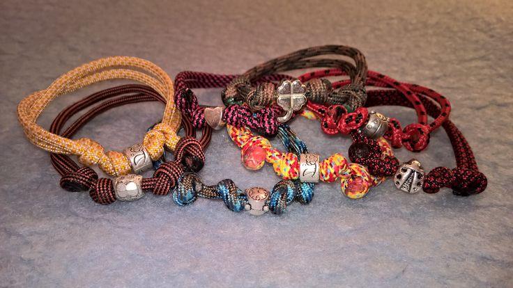 Sliding Knot Paracord Bracelets with beads