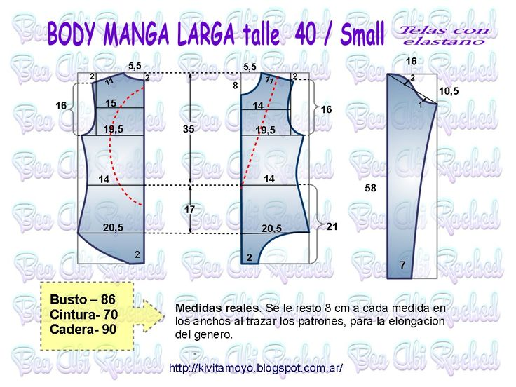 KiVita MoYo: BODY MANGA LARGA talle 40 / Small
