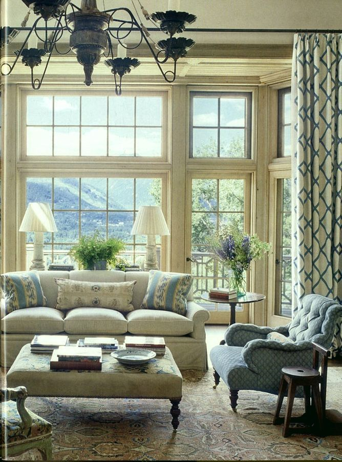 84 best beautiful interiors david easton images on pinterest for Popular window treatments for living room