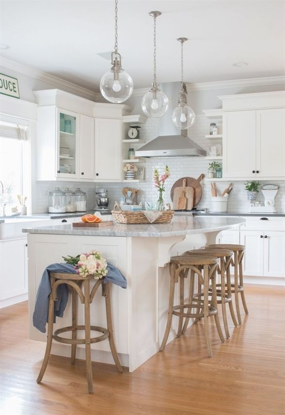 tour a light and bright cottage farmhouse style home with pops of rh pinterest com