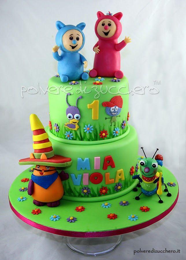 baby tv cake: Billy e Bam Bam, Mick, Henry, Tulli, Big Bugs band fondant paste