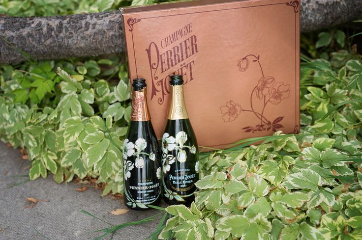 What you need to know about these bottles of champagne, is that Emmylou's picked up her bottle of Perrier Jouet in France when she went to the vineyard and then told her momma about it. Her momma was stunned and immediately got her own bottle of champagne from her wedding roughly 37 years ago!!!