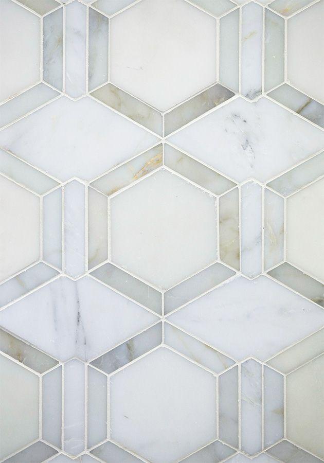 triangle tiles stone mosaic tile