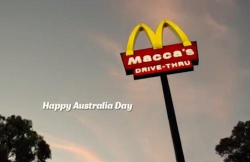 Pendant ce temps, McDonald's devient Macca's en Australie.