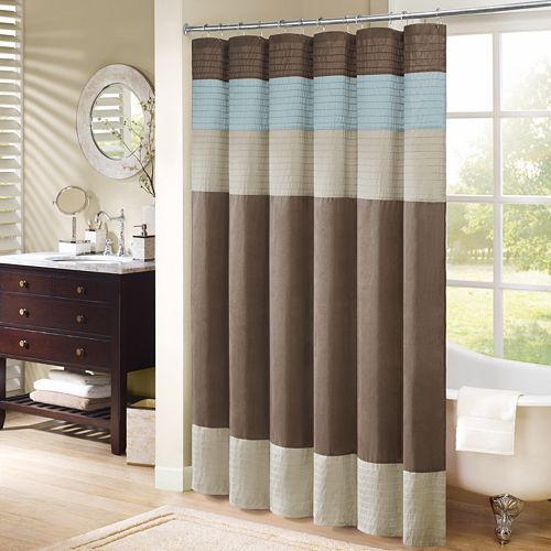 Update Your Bathroom With This Simple Yet Beautiful Madison Park Amherst Shower Curtain Faux Silk Dupioni Fabric Drapes Beautifully And Is Easy To Care