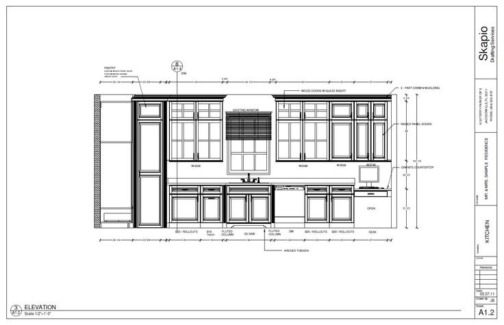 Modern Kitchen Elevation wonderful kitchen design elevations drawing elevation line