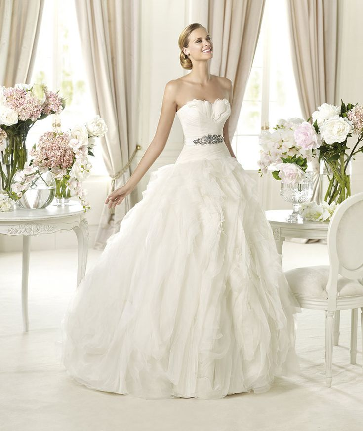 Glamorous Pronovias Wedding Dresses 2014 Dreams Collection. To see more: http://www.modwedding.com/2014/01/22/glamorous-pronovias-wedding-dresses-2014-dreams-collection/ #wedding #weddings #fashion