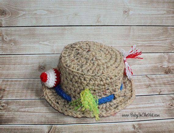 Newborn Boys Fishing Camping Crochet Hat Boys by Babyinthehat, $20.00