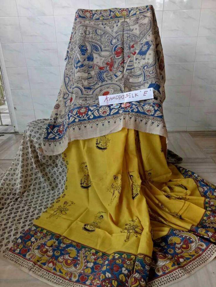 Kalamkari khadi silk sarees 50