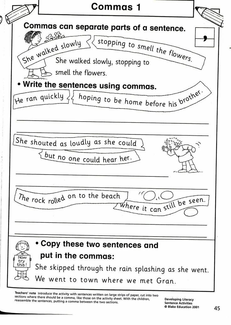21 best grammar commas images on pinterest grammar worksheets and presentation. Black Bedroom Furniture Sets. Home Design Ideas