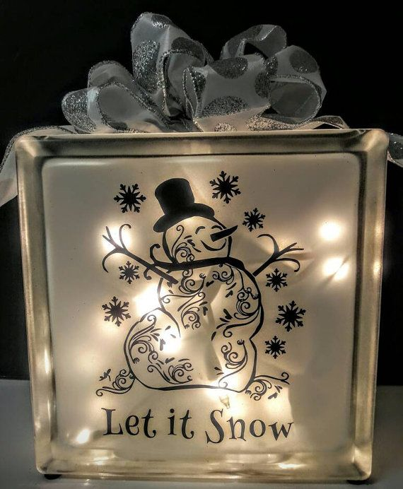 Check out this item in my Etsy shop https://www.etsy.com/listing/485800971/lighted-glass-block-snowman