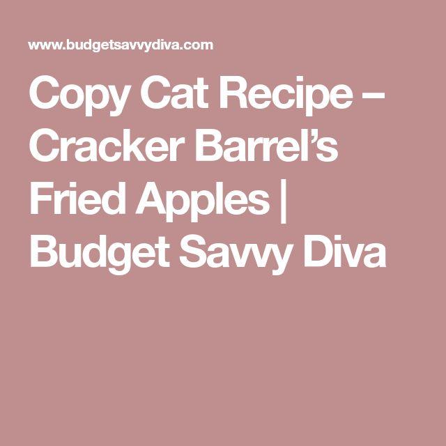 Copy Cat Recipe – Cracker Barrel's Fried Apples | Budget Savvy Diva