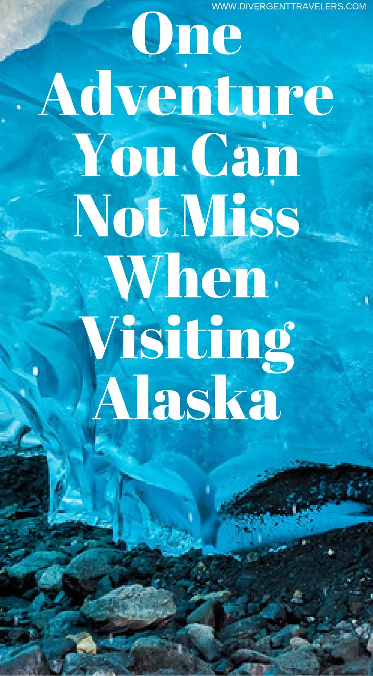 One adventure you can not miss when visiting Juneau, Alaska. The Mendenhall Glacier in Alaska holds one of nature's most jaw-dropping secrets in Alaska. But rising temperatures mean they won't last for long! This is a top adventure you can not miss when planning your visit you Alaska. Click to read the full travel blog post by the Divergent Travelers Adventure Travel Blog.