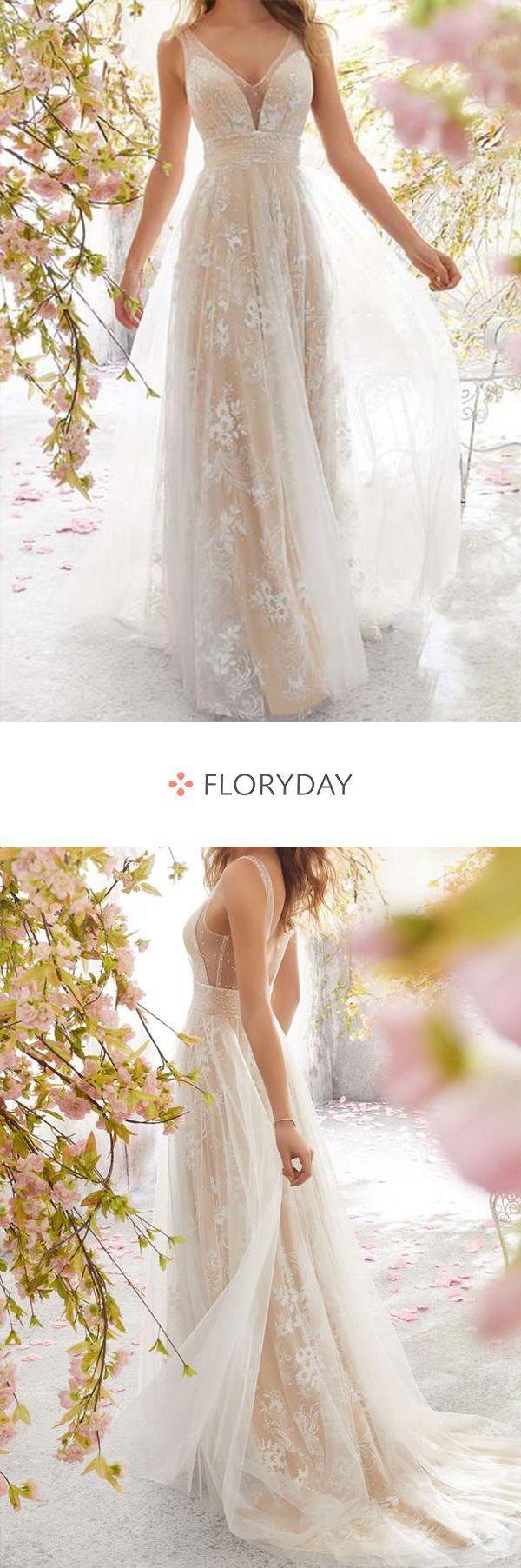 Ärmelloses Maxi-Kleid in X-Linie mit Blumen-Spitze