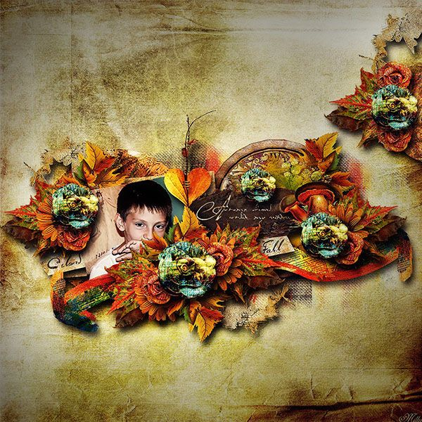 Artistic Autumn by Rucola Designs template Wonderful Forest Part1 by Eudora DEsigns