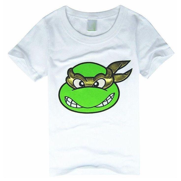 Ninja Turtles Черные Мальчики Футболки 90-130 С Коротким Рукавом детский Ти Топы 100% Хлопок 4 Цветов для Выбора