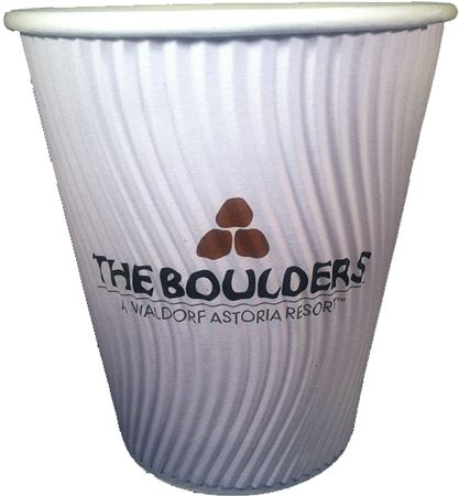 Eco-Wave cups - come with a built in sleeve to insulate for hot beverages.